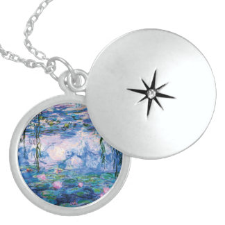Monet's Water Lilies Sterling Silver Necklace