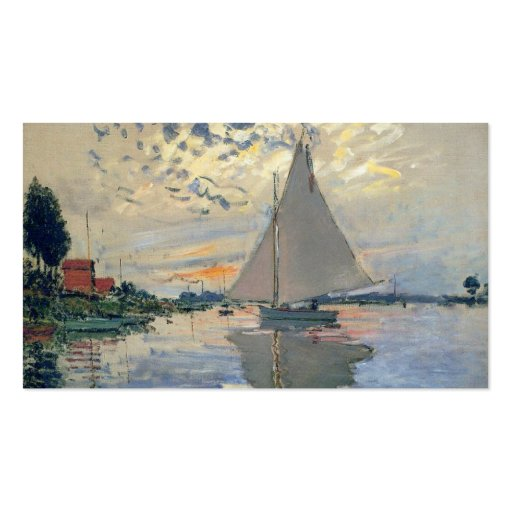 Monet Sailboat French Impressionist Business Cards