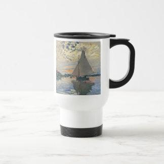 Monet Sailboat French Impressionist Travel Mug