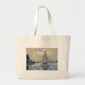 Monet Sailboat Large Tote Bag