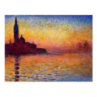 Monet - San Giorgio Maggiore at Dusk Postcard