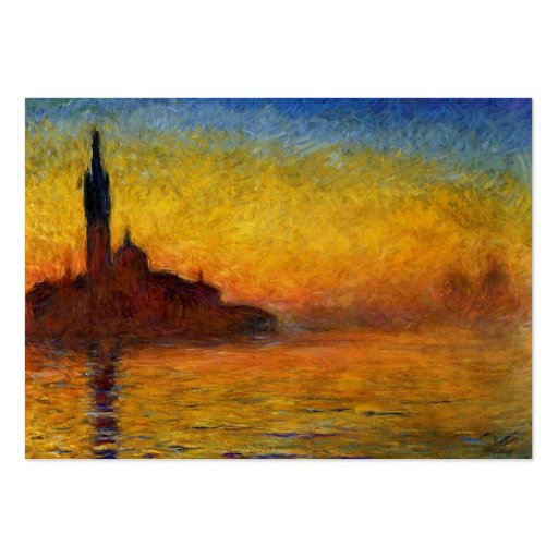 Monet Sunset in Venice Impressionist Painting Business Cards