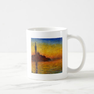 Monet Sunset in Venice Impressionist Painting Coffee Mug
