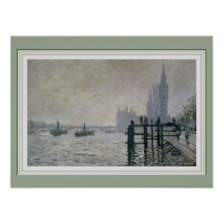 Monet Thames Below Westminster 16 x 12 Poster