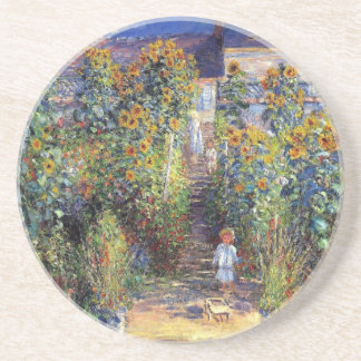 "Monet, ""The Artist's Garden at Vétheuil"" Coaster"