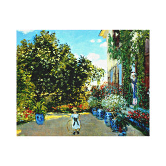Monet - The Artist's House at Argenteuil Canvas Print