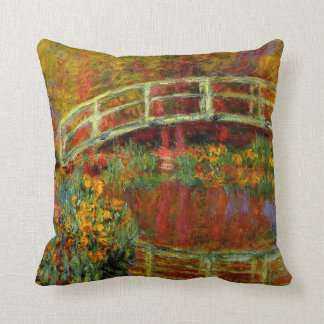 Monet - The Japanese Bridge Throw Pillow
