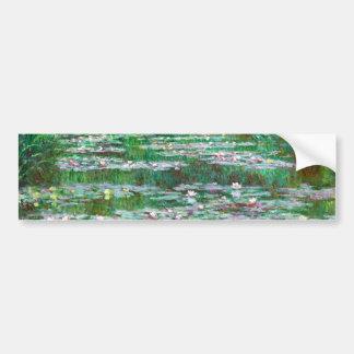 Monet The Japanese Footbridge Fine Art Bumper Sticker