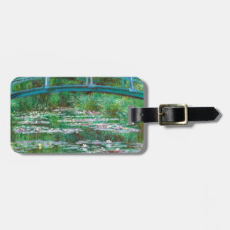 Monet The Japanese Footbridge Fine Art Luggage Tag