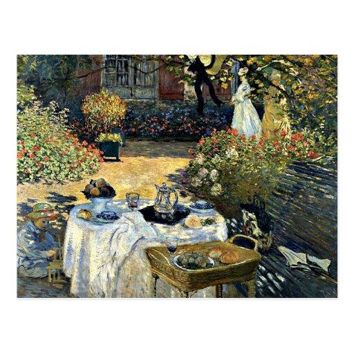 Monet - The Luncheon, 1873 artwork Postcards