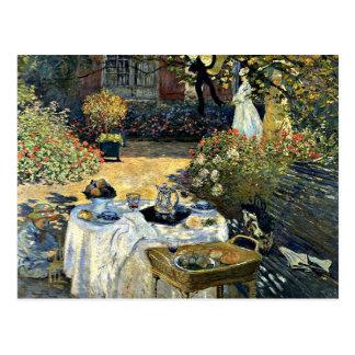 Monet - The Luncheon 1873 artwork Postcards