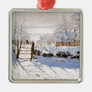 Monet - The Magpie Metal Ornament