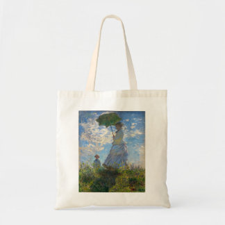 Monet The Promenade Woman with a Parasol Canvas Bags