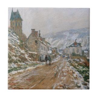 Monet - The Road in Vetheuil in Winter Tile