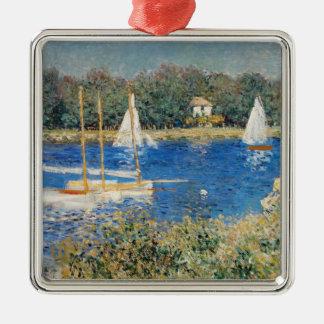 Monet - The Seine at Argenteuil Metal Ornament
