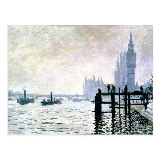 Monet - The Thames below Westminster Postcard