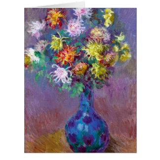 Monet Vase de Chrysanthemes Flowers Big Cards