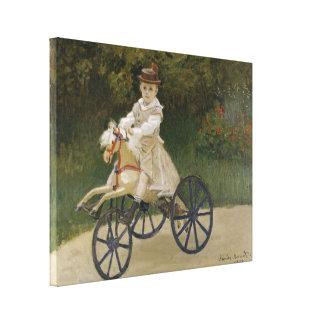 Monet Vintage Jean Monet on his Hobby Horse Canvas Print