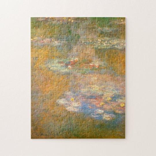 Monet Water Lilies 1908 Fine Art Jigsaw Puzzle