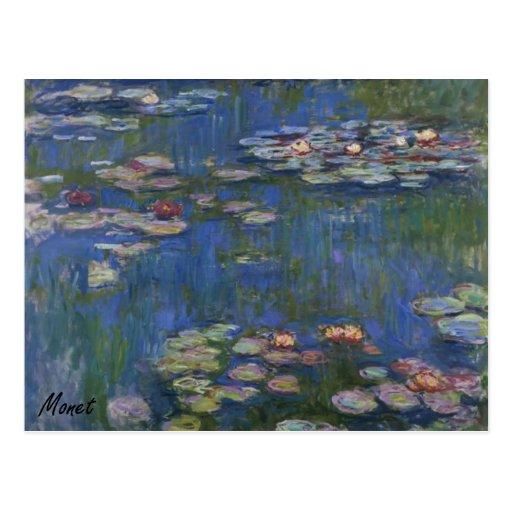 MONET Water Lilies 1916 POSTCARD