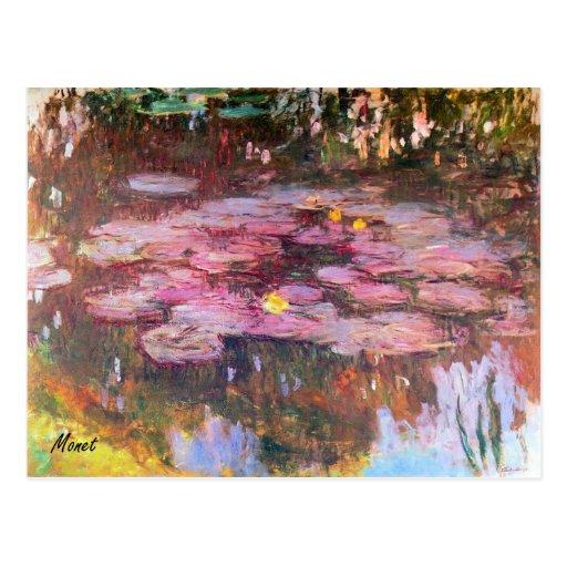 MONET Water Lilies 1917 Postcard