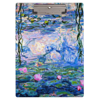 Monet - Water Lilies, 1919 Clipboard