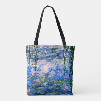 Monet - Water Lilies, 1919, pink Tote Bag
