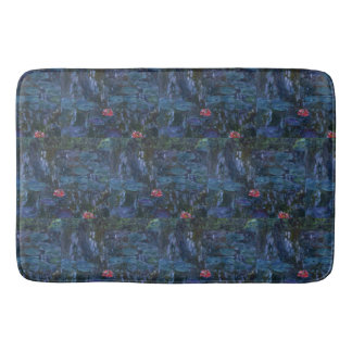 Monet Water Lilies and Reflections of a Willow Bath Mat