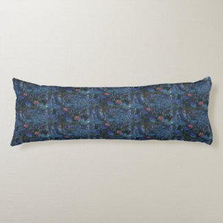 Monet Water Lilies and Reflections of a Willow Body Cushion