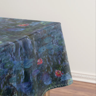 Monet Water Lilies and Reflections of a Willow Tablecloth