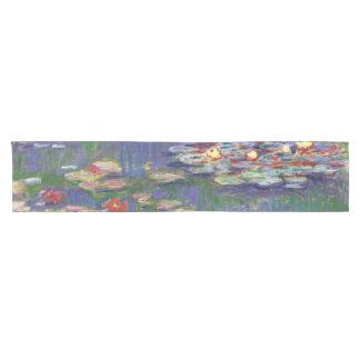Monet Water Lilies Blue Short Table Runner