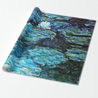 Monet - Water Lilies (blue) Wrapping Paper