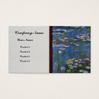 Monet- Water Lilies Business Card