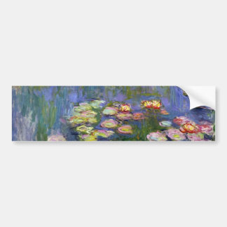 Monet Water Lilies Fine Art (1916) Bumper Sticker