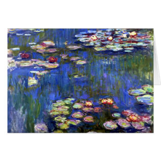 Monet Water Lilies Pond Card