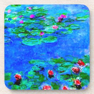 Monet: Water Lilies Red artwork Beverage Coasters