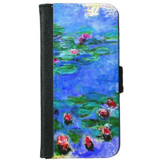 Monet - Water Lilies (red) iPhone 6 Wallet Case