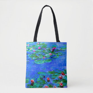 Monet - Water Lilies (Red) Tote Bag