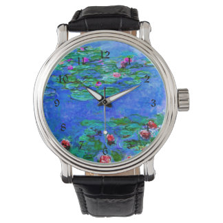 Monet - Water Lilies (red) Watch