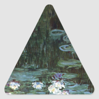 Monet Water Lilies Triangle Sticker