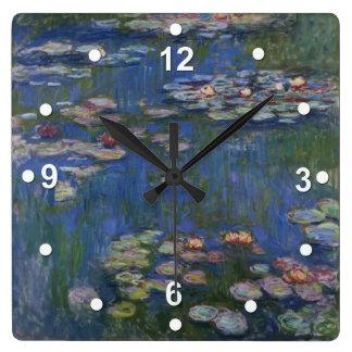 Monet Water Lilies Wall Clock
