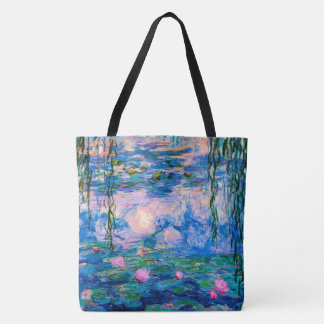 Monet Water Lilies with Pond Reflections Tote Bag