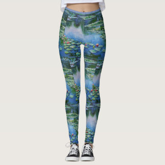 Monet Water Lillies Beautiful Watercolor Leggings