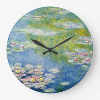 Monet Water Lily clock numberless