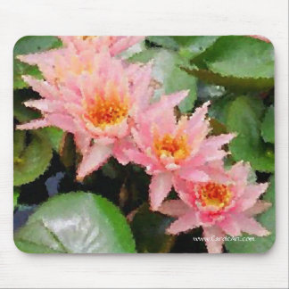 """""""Monet"""" Water Lily Cluster Mousepad"""