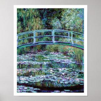 Monet - Water Lily Pond & Japanese Bridge Print