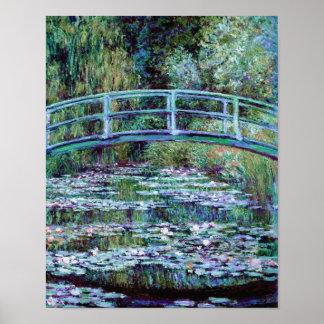 Monet - Water Lily Pond Japanese Bridge Print