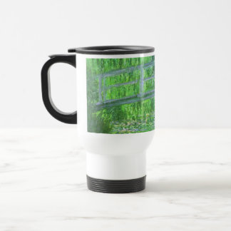 MONET Water Lily Pond Travel Mug Symphony in Green