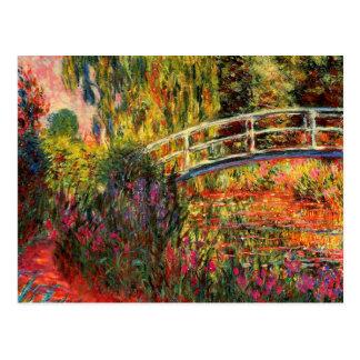 Monet - Water Lily Pond, Water Irises Postcard