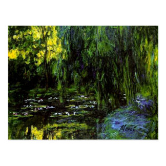 MONET Water Lily Pond Weeping Willows  Postcard